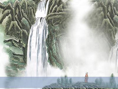 望庐山瀑布图片诗配画-王安石的绝句描写庐山瀑布的诗什么意思